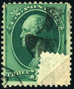 U.S. #158 Used Double Paper Variety with with PSE Cert