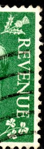 1950 Sg 505 1½d Pale Green Flaw in Last 'E' of Revenue Fine Used