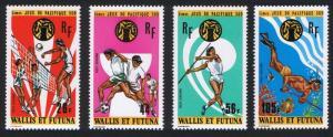 Wallis and Futuna 5th South Pacific Games 4v Airmail 1975 MNH SG#244-247