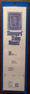 Showgard Stamp Mounts Size 52/215 BLACK Background Pack of 15