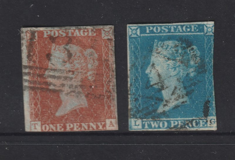 Great Britain the used 1d & 2d imperf from 1841