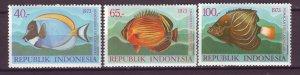 J25050 JLstamps 1973 indonesia set mnh #834-6 fish