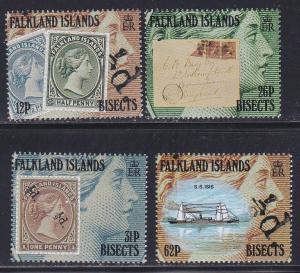 Falkland Islands # 541-544, Falkland Island Bisects Centenial, NH, 1/2 Cat.