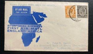 1931 Kampala Uganda First Flight Cover FFC To Mwanza Tanganyika British KUT