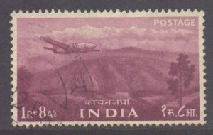 India Scott 268- SG368, 1955 Five Year Plan 1r8a used