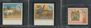 Rhodesia 234a-236a XF Perf 14 MNH