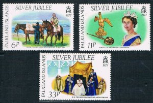 1977 Falkland Islands 249-251 Horses