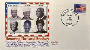 AFDCS Honoring Rutherford NJ Laval Brothers African American 6 Brothers WWII
