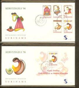 1996 - Rep. Surinam FDC E198+A - Festivals & Seasonal - Christmas - Pictures ...
