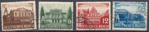 Germany - 1941 Leipzig Fair Sc# 498/501 (409N)