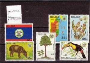 BELIZE SC# 594-599 MNH