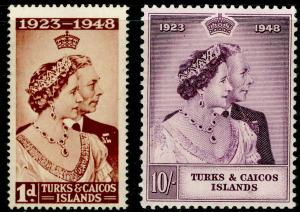 TURKS AND CAICOS ISLANDS SG208-209, COMPLETE SET, NH MINT. Cat £14. RSW