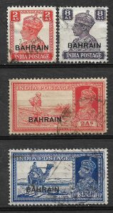 COLLECTION LOT #695 BAHRAIN 4 STAMPS  1938+ CV +$27