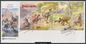 24-Sep-2013 Australia Age of Dinosaurs MIniature Sheet Wesley First Day Cover
