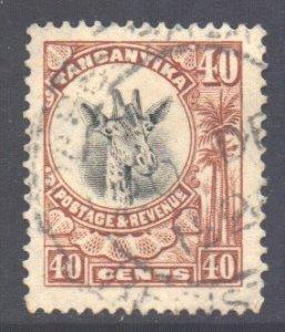 Tanganyika Scott 20 - SG80, 1922 Giraffe 40c used