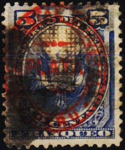 Peru. .1880 5c Overprinted. With grill. Used