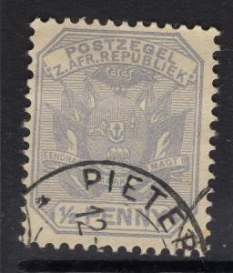 TRANSVAAL SG205 1895 ½d PEARL-GREY FINE USED