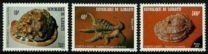 Djibouti #506-8 MNH Set - Seashells