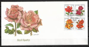 1979 south Africa 525-8 Roses C/S block of 4 FDC