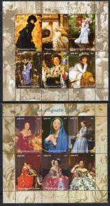 Mozambique 1729-1732 Paintings Souvenir Sheets MNH VF