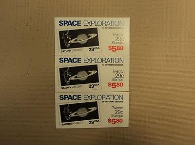 USPS Scott 2568-77 29c 1991 Space Exploration 3 Books Of ...