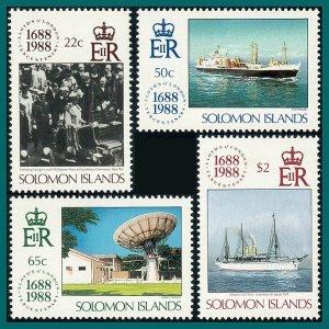 Solomon Islands 1988 Lloyd's of London, MNH #627-630,SG636-SG639