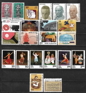 COLLECTION LOT OF 22 INDIA MH 1974+ STAMPS CV+ $26