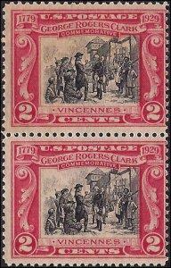 651 Mint,OG,NH... Pair... SCV $2.30