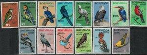 Botswana SC 19-32 Birds MNH 1967 SCV$ 74.00 Set