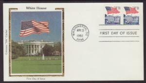 US 2609 Flag Over White House 1992 Colorano U/A FDC