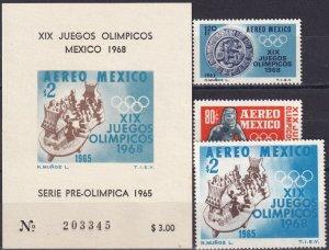Mexico #C309-11, C311a  MNH CV $5.95  (Z3871)