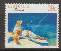 Australia SG 1179a FU - booklet stamp bottom imperf - per...