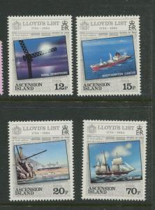 Ascension - Scott 351 - 354 - General Issue -1984 - MNH - Set of 4 Stamps