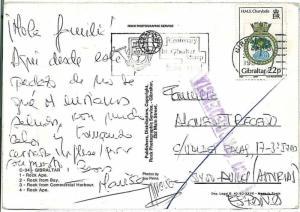 GIBRALTAR -  POSTAL HISTORY - Special postmark on POSTCARD: Stamp Centenary 1986