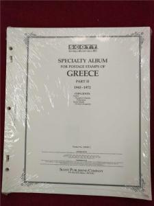 Greece Album Pages Scott Specialty Stamp Collecting Part 2 : 1943-1972