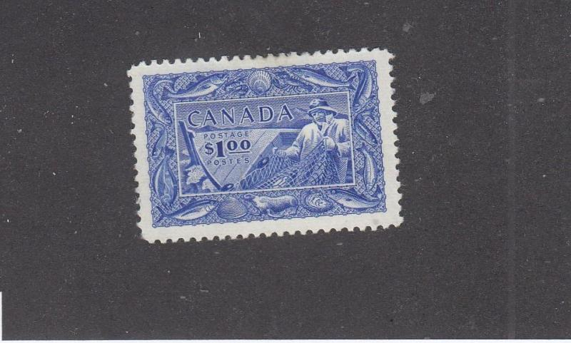 CANADA LOT # 302 VF-MH $1 FISHING RESOURCES CAT VALUE $60