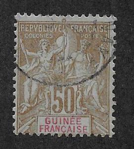 FRENCH GUINEA SC# 15  AVF/U    1892