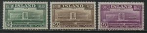 Iceland 1938 25 to 40 aur mint o.g. hinged