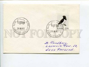 292284 NORWAY 1983 year COVER Sveagruva buffalo