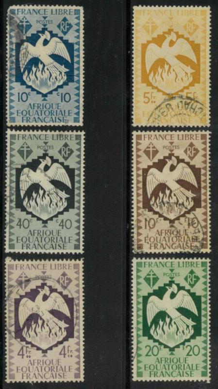 French Equatorial Africa 143, 146, 152-155 Used VF hr (1...