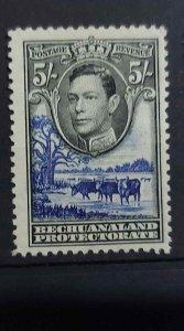 Bechuanaland 1938 GVI 5/- SG 127 mint