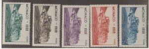 Monaco Scott #177-181 Stamp - Mint Set