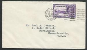 NEWFOUNDLAND 1935 5c Jubilee on cover - ...................................53159
