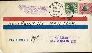 #C4 ON1ST FLIGHT CA NO. 23; HIGH POINT,N TO NEW YORK COVER BN6286