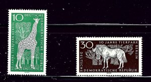 Germany (DDR) 759 and 761 MLH 1965 Animals  (P83)