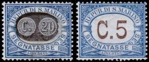 San Marino Scott J40, J61 (1931, 1939) Mint LH VF