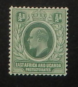 East Africa and Uganda 17a. 1904 1/2a Gray green KEVII, ordinary paper
