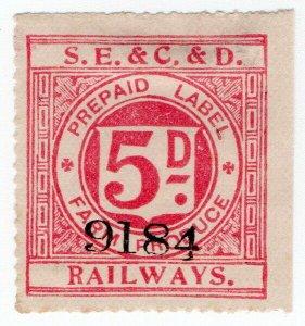 (I.B) South Eastern & Chatham & Dover Railways : Farm Produce 5d