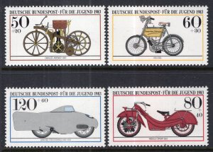 Germany B605-B608 Motorcycles MNH VF
