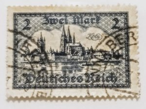 Germany 363 1924 landscapes 2 MK used XF